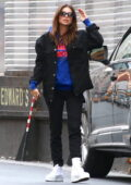 Emily Ratajkowski spotted out shopping with her husband Sebastian Bear-McClard in New York City