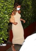 Hailey and Justin Bieber seen leaving Giorgio Baldi restaurant in Los Angeles