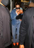 Hailey Bieber and Justin Bieber seen leaving the Nice Guy in West Hollywood, California