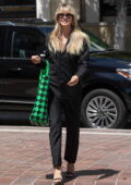 Heidi Klum dons all-black as she arrives at America's Got Talent taping in Los Angeles