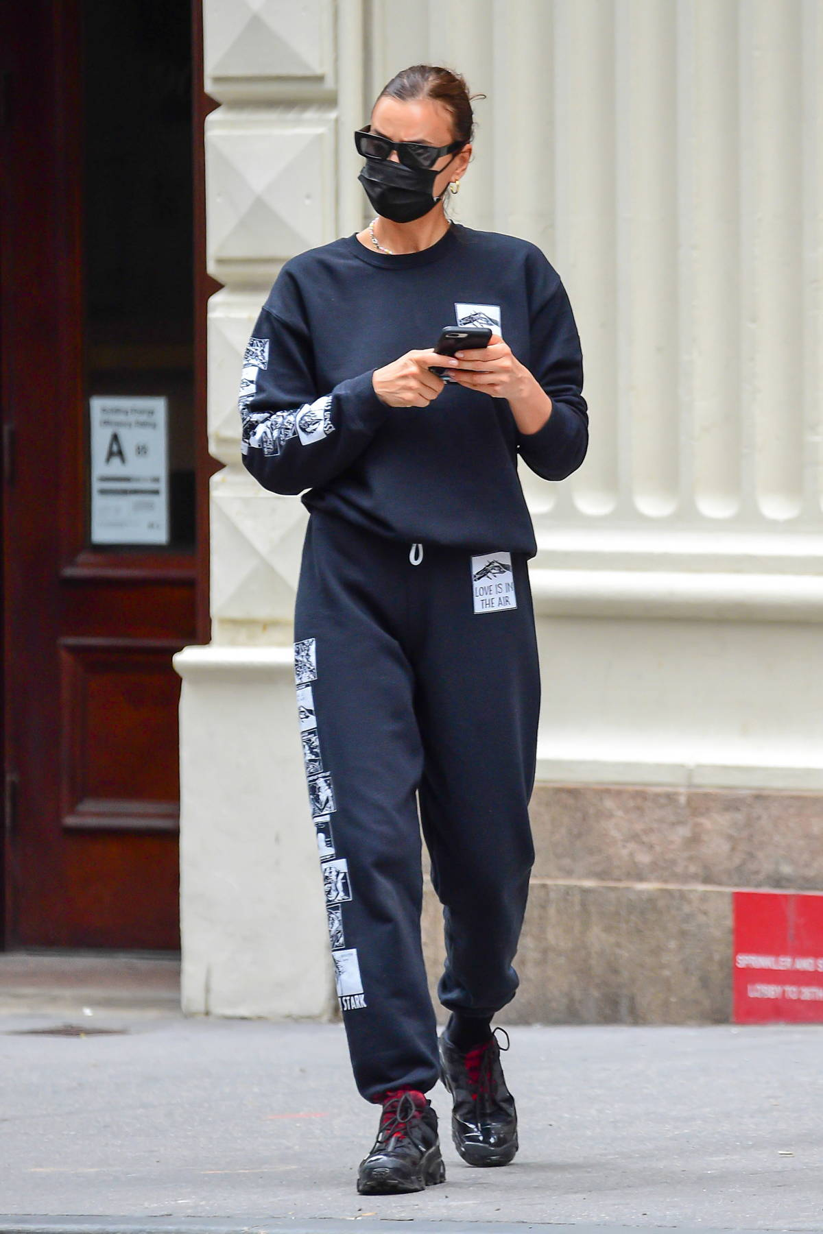 Irina Shayk keeps it casual yet stylish in designer sweats as she steps in New York City