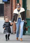 Irina Shayk keeps it stylish as she steps out on a stroll with her daughter Lea in New York City