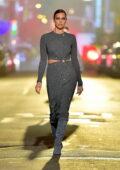 Irina Shayk walks the runway for Michael Kors 2021 Fashion Show in New York City