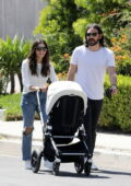 Jenna Dewan and Steve Kazee enjoy a leisurely stroll with their son in Los Angeles