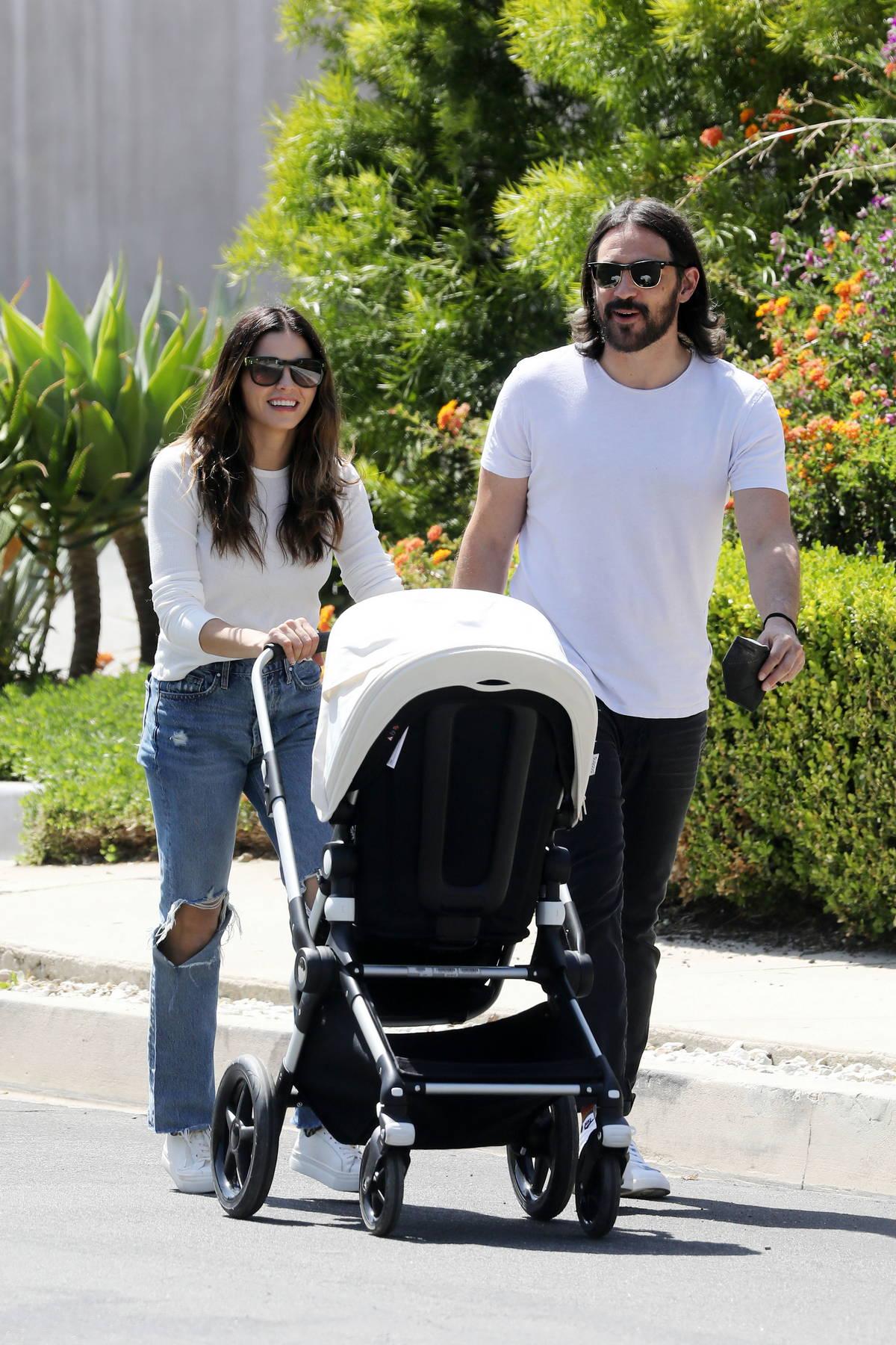 Jenna Dewan and Steve Kazee enjoy a leisurely stroll with their son in Los Angeles