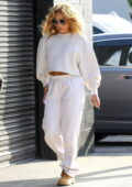 Jennifer Lopez seen for the first time since her split with Alex Rodriguez as she heads to a studio in Los Angeles