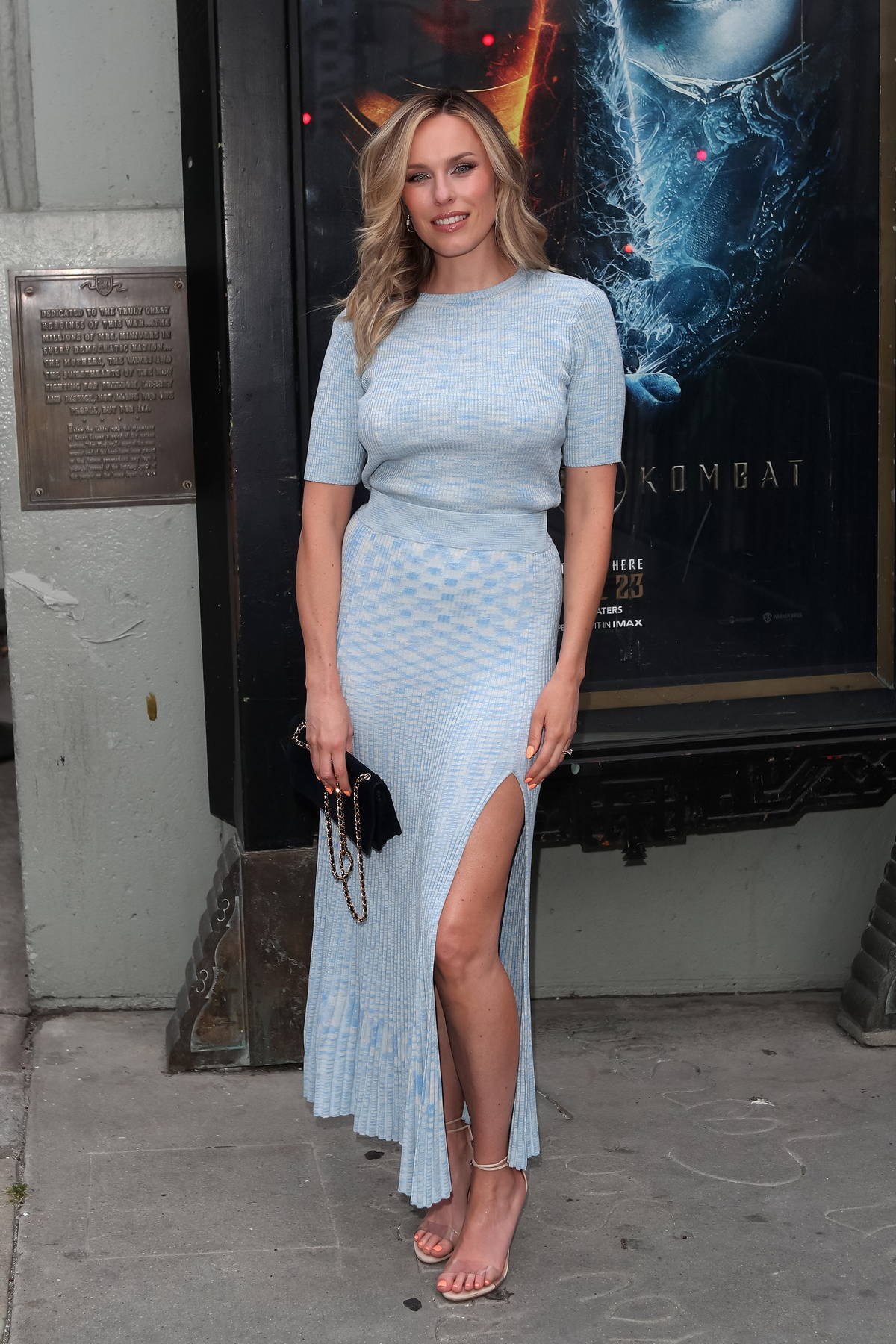 Jessica McNamee attends a special screening of 'Mortal Kombat' at TCL Theatre in Los Angeles
