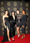 Josephine Skriver, Sara Sampaio, Jasmine Tookes, and Shanina Shaik at Darren Dzienciol & Richie Akiva's Oscar Party in Bel Air, California