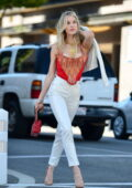 Joy Corrigan rocks a vintage Versace outfit during a photoshoot in Los Angeles