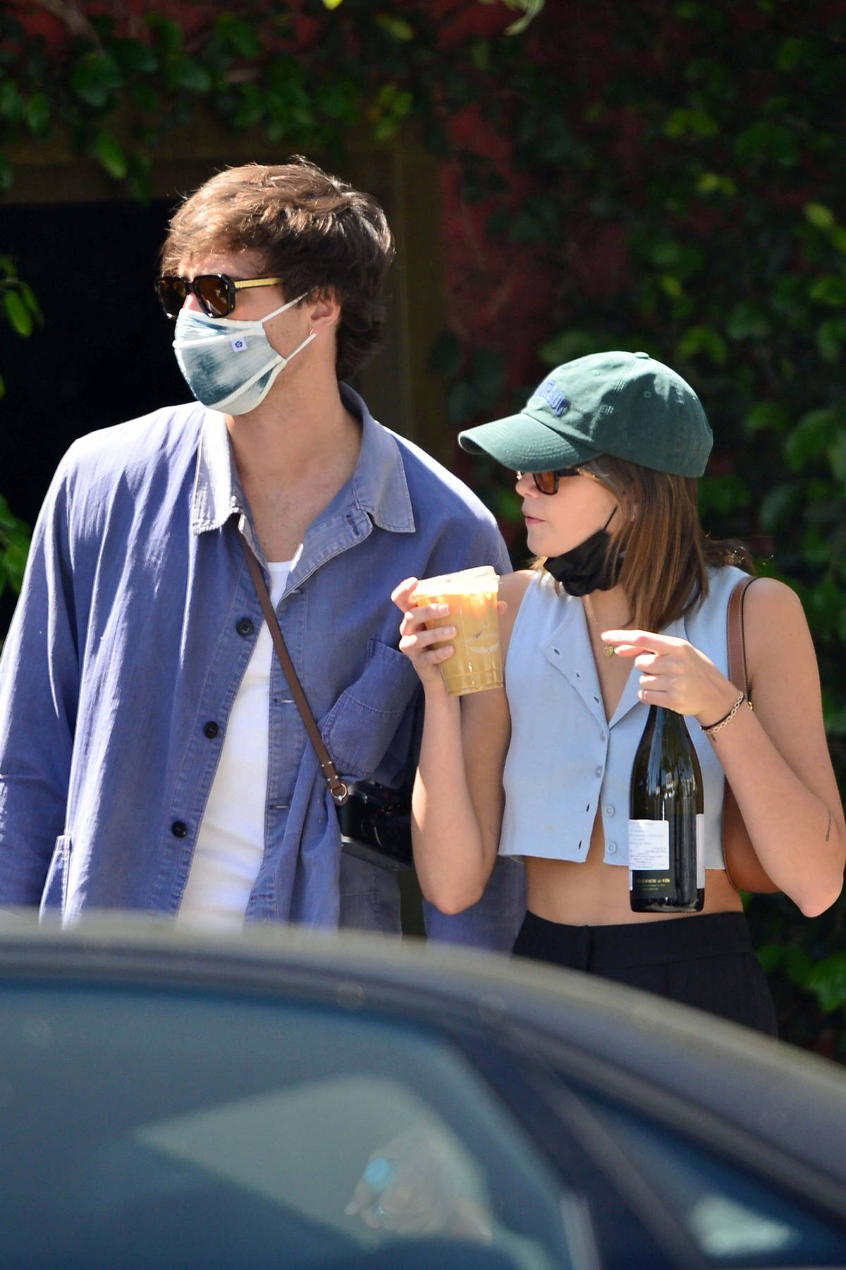Kaia Gerber and Jacob Elordi stepped out for some iced coffee at Intelligentsia Coffee in Silver Lake, California
