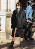 Kaia Gerber seen for the first time on the set of 'American Horror Story' Season 10 in Burbank, California