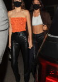 Kendall and Kylie Jenner step out for a night out at The Nice Guy in West Hollywood, California