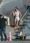 Kendall and Kylie Jenner touch down with family on Easter Sunday in Los Angeles