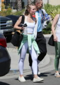 Kristen Bell looks fit as she wraps up a workout session in Los Feliz, California