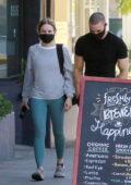 Kristen Bell works up a sweat as she hits a Pilates class in Los Feliz, California