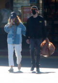 Lily James shops for groceries with boyfriend Michael Shuman in Los Angeles