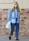 Lily James shows her new blonde hairdo as she stop by a CVS Pharmacy to pick up some essentials in Los Angeles
