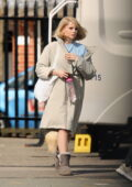 Lucy Boynton spotted on the set of 'The Ipcress Files' in Liverpool, UK