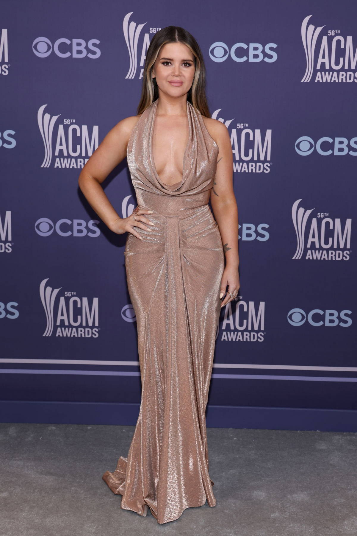 Maren Morris attends the 56th Academy of Country Music Awards at the Grand Ole Opry in Nashville, Tennessee