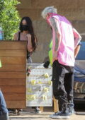 Megan Fox and Machine Gun Kelly spotted during a lunch date at Nobu in Malibu, California