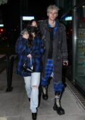 Megan Fox and Machine Gun Kelly step out wearing matching outfits as they enjoy dinner in Santa Monica, California