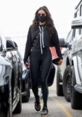Nina Dobrev sports all-black athleisure as she leaves after a morning workout in West Hollywood, California