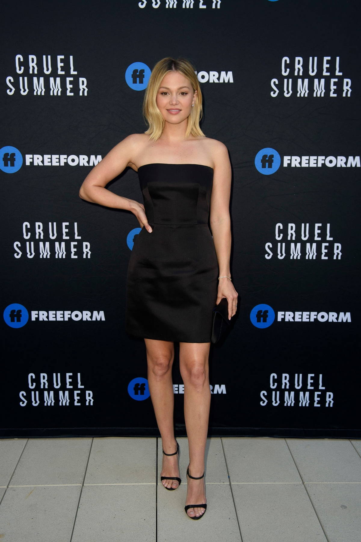 Olivia Holt attends the premiere of Freeform's 'Cruel Summer' in Los Angeles