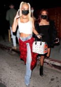 Pia Mia looks trendy during a night out at The Nice Guy in West Hollywood, California