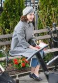 Rachel Brosnahan seen on set filming 'The Marvelous Mrs. Maisel' in New York City