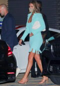 Rosie Huntington-Whiteley looks stunning in blue during a date night with Jason Statham at Nobu in Malibu, California