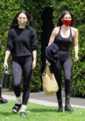 Rumer and Scout Willis seen leaving a Pilates session in West Hollywood, California