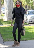 Rumer Willis dons a black full-sleeve top and leggings as she hits her morning Pilates class in West Hollywood, California