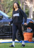 Rumer Willis dons all-black sweatshirt and leggings for a Pilates class in West Hollywood, California