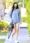 Rumer Willis flaunts her legs in tiny grey shorts while heading for a Pilates class in West Hollywood, California
