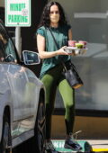 Rumer Willis makes a stop for some post-workout smoothies at Earthbar in West Hollywood, California