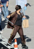 Salma Hayek spotted on the set of 'House of Gucci' in Rome, Italy