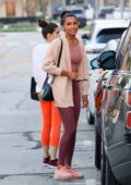 Sara Sampaio and Jasmine Tookes enjoy a workout together at Dogpound gym in West Hollywood, California