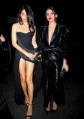 Sara Sampaio and Shanina Shaik look stunning in black as they attend an Oscars afterparty in Bel Air, California