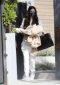 Sara Sampaio looked cozy in white sweats as she leaves her home in Los Angeles