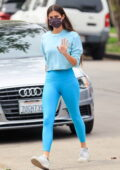 Sara Sampaio shows off her svelte physique as she heads to a Pilates class in West Hollywood, California