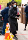 Selena Gomez spotted in all-black while on the set of 'Only Murders in the Building' in New York City