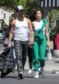 Shanina Shaik and new boyfriend Matthew Adesuyan hold hands after lunch date with friends in Los Feliz, California