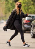 Sofia Richie dons all-black while attending a Pilates class in West Hollywood, California