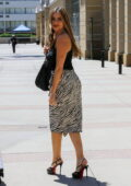 Sofia Vergara shows off her curves in animal print skirt as she arrives at the AGT taping in Los Angeles