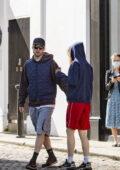 Suki Waterhouse and Robert Pattinson reunited after his movie 'Batman' wraps after a year of filming, London, UK