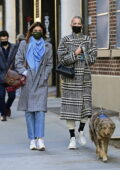 Taylor Hill steps out for dinner with Daphne Groeneveld in New York City