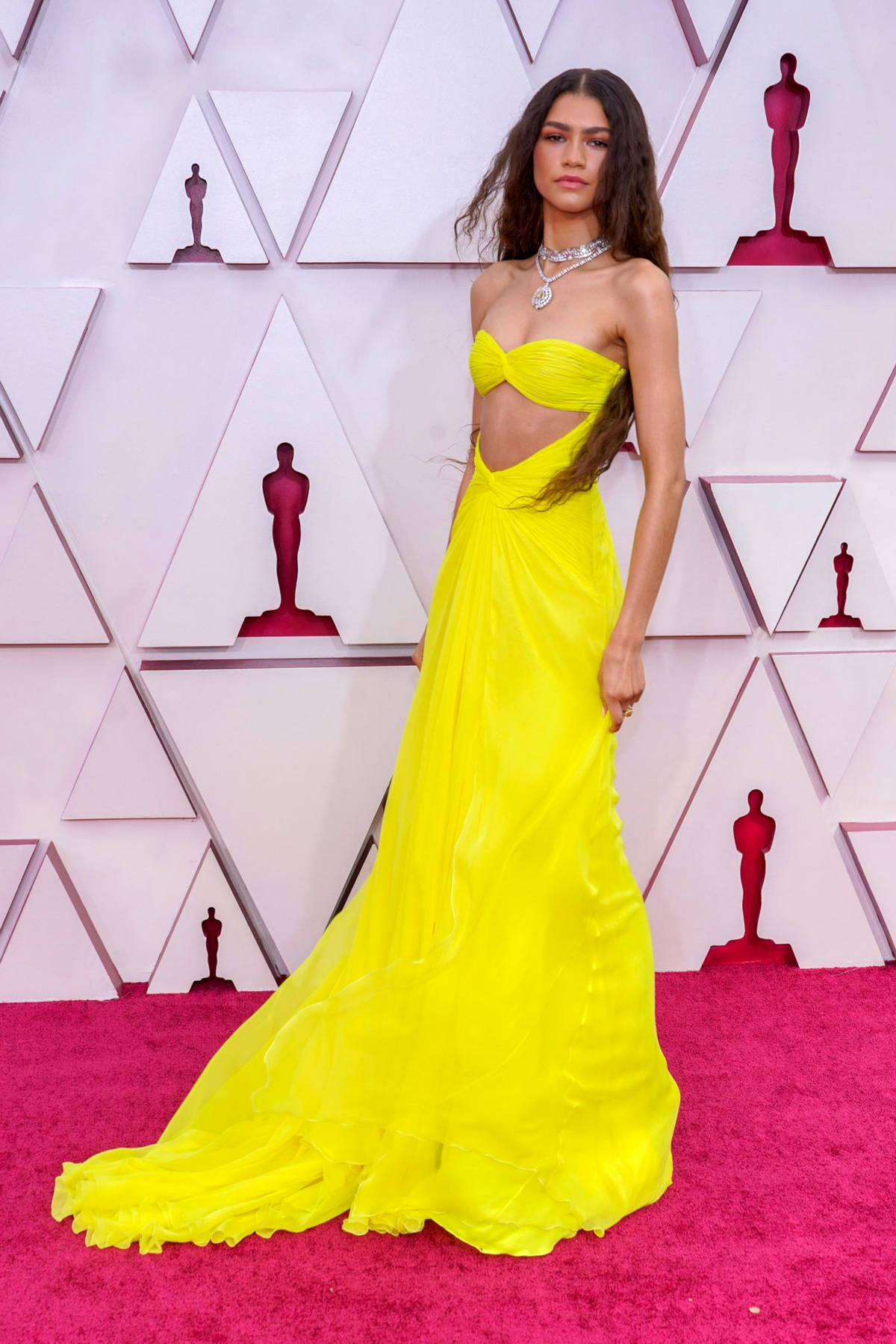 Zendaya attends the 93rd Annual Academy Awards at Union Station in Los Angeles