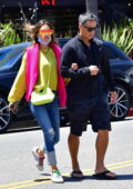 Alessandra Ambrosio brings all the color to her lunch date with boyfriend Richard Lee in Venice, California