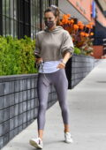 Alessandra Ambrosio displays her svelte figure as she attends her Pilates class before grabbing lunch in Brentwood, California