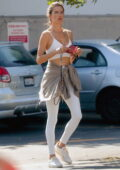 Alessandra Ambrosio rocks her workout outfit while stopping by CVS pharmacy in Los Angeles